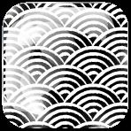 Seigaiha, motif de tissu japonais
